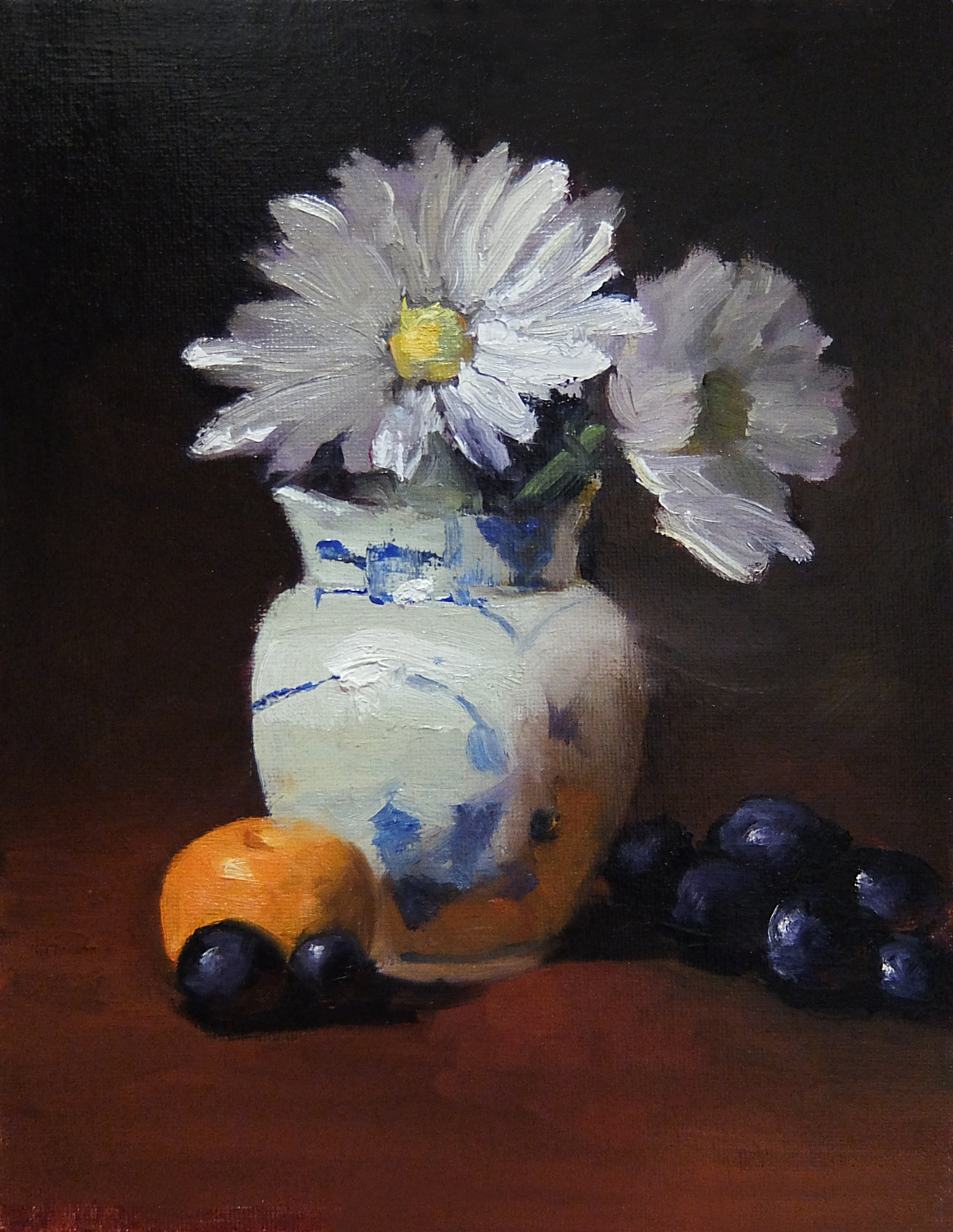 Daisies in Blue and White Creamer