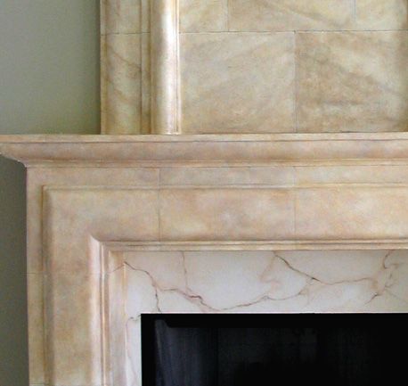 Faux Limestone with faux Marble surround
