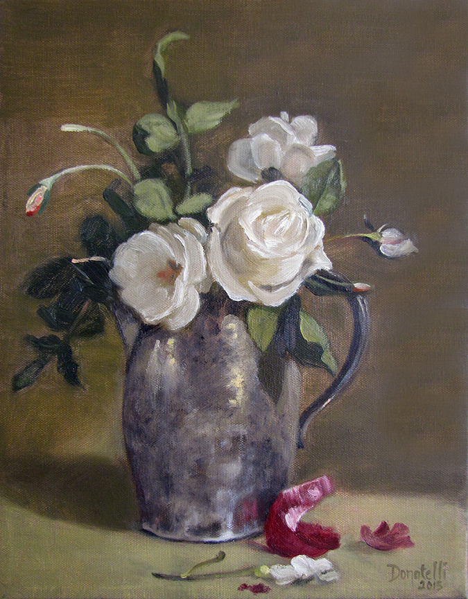 Roses and Silver Pitcher 3