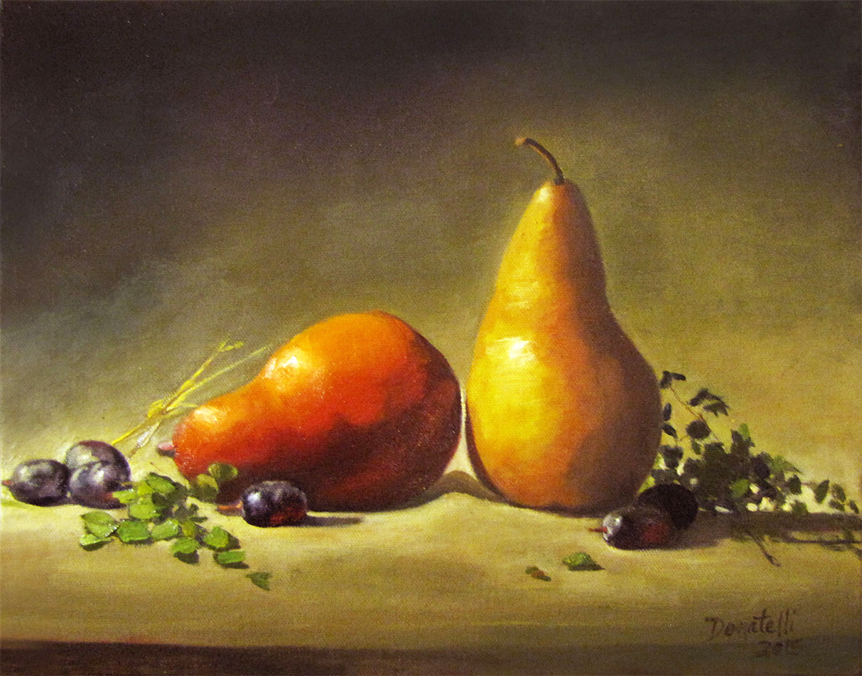 Pears, Red and Gold